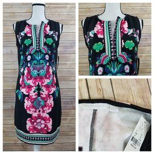 NWT New York & Company M MEDIUM Floral Midi Dress